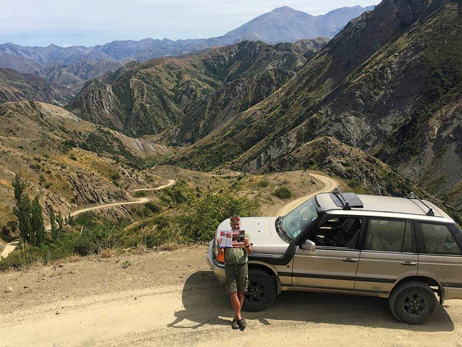 Range Rover in the mountains of New Zealand