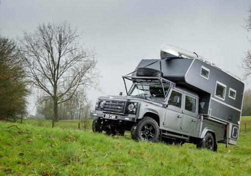 Land Rover Defender 130 Demountable Camper front three-quarter