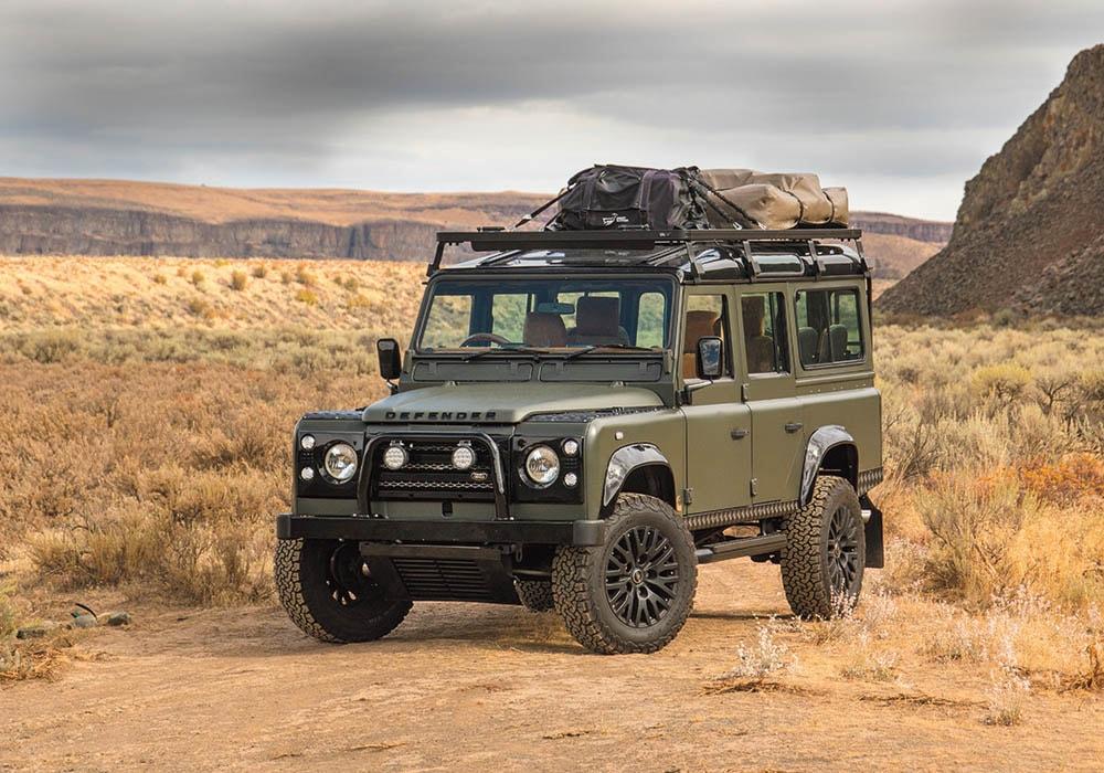 Land Rover Defender front three-quarter