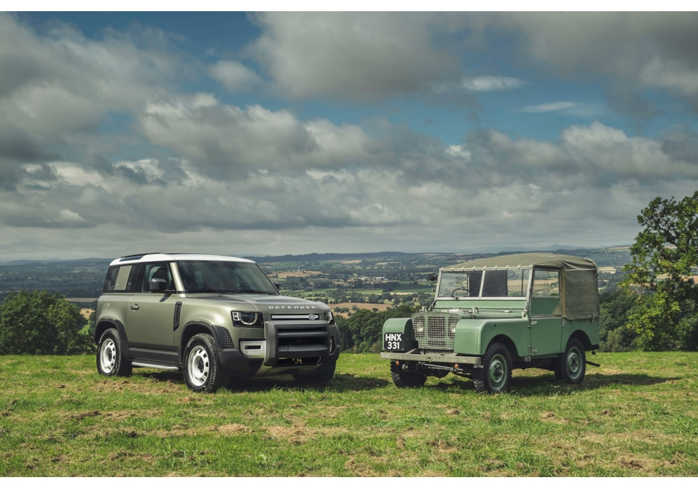 John Knapton owner 1949 Series I and 2020 new Defender