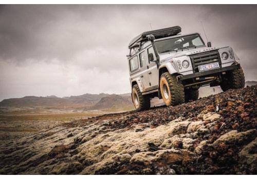 Big Foot Defender Langjokull Glacier Drive Iceland