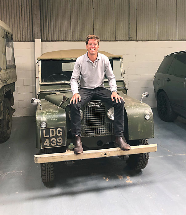 Henry Warhurst has a whole barn full of Land Rovers