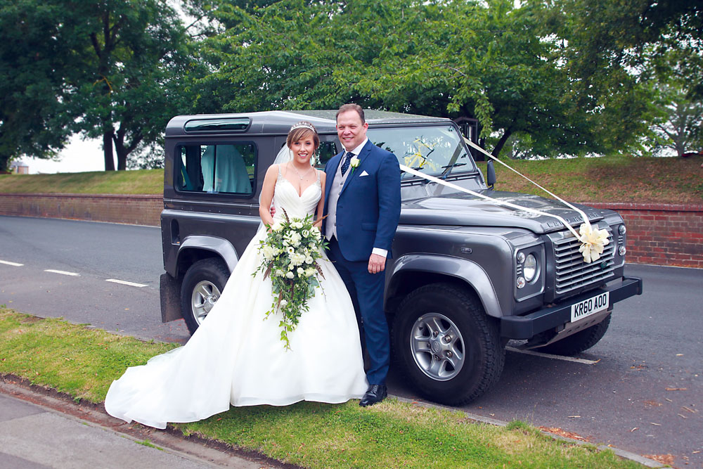 A Land Rover wedding