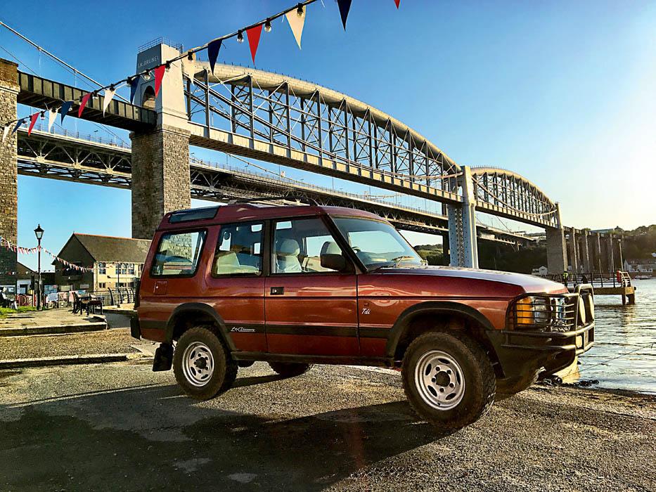 Discovery 1 next to the Tamar bridge