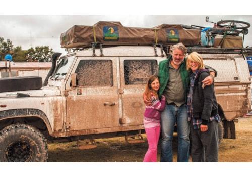 Defender 130 family living overland around the world
