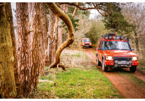 G4 Discovery 2 greenlaning in Thetford forest, Norfolk