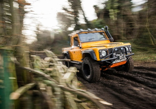 Shire Fabrications Land Rover Defender Ninety off-roading