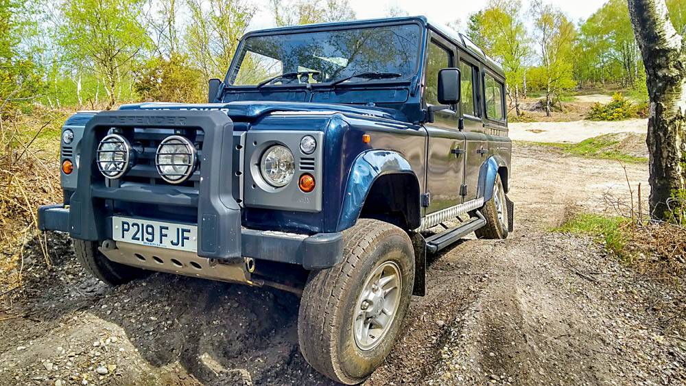 Defender takes on cross axles