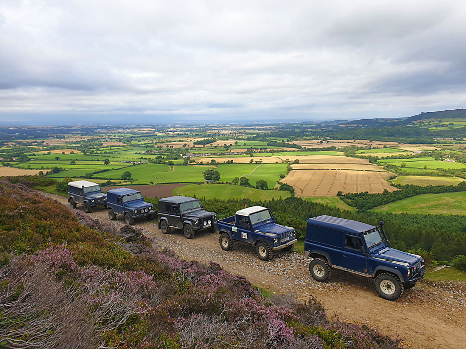 Land Rover convoy in the north Yorkshire Moors