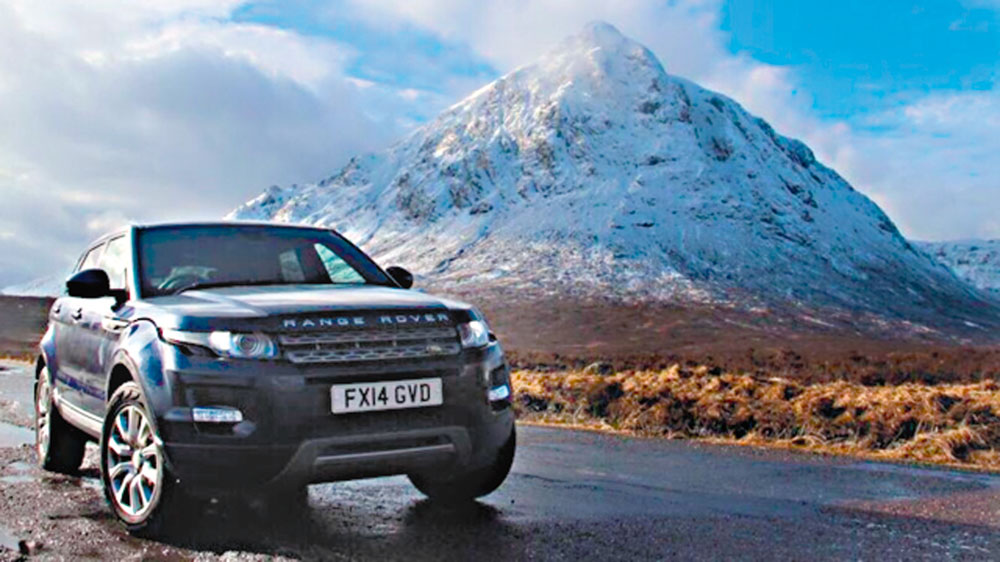 Range Rover Evoque on a tour of Scotland