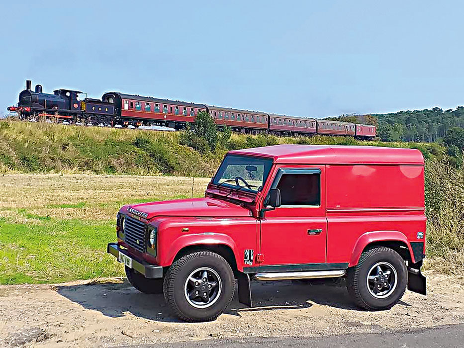 Norfolk train and a Defender