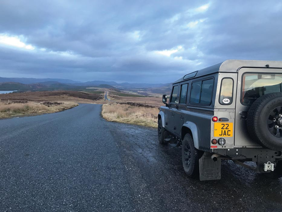 Scotland Land Rover Defender landscapes cloud