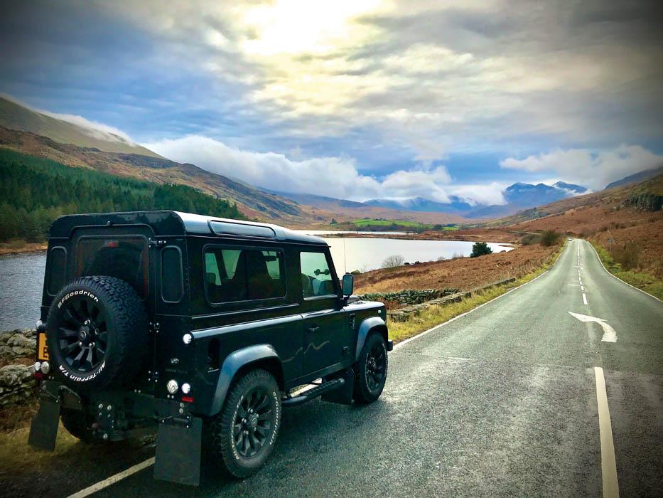 Snowdonia road trip in a Defender 90
