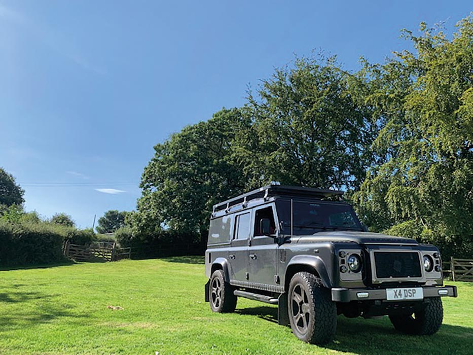 Land Rover Defender in the sun