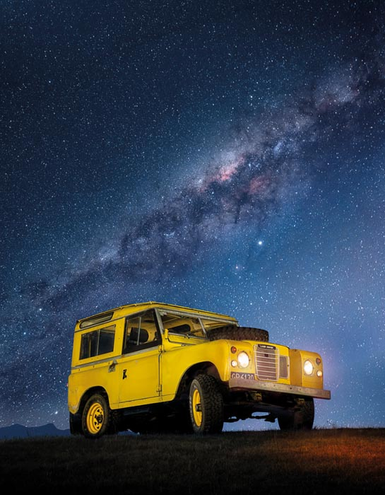 Series III Land Rover Milky Way stars