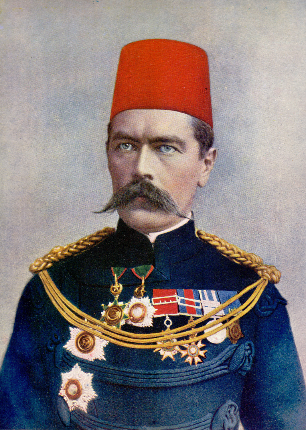 Major-General Horatio Herbert Kitchener, the Sirdar of the Egyptian Army, who defeated the Khalifa at the Battle of Omdurman