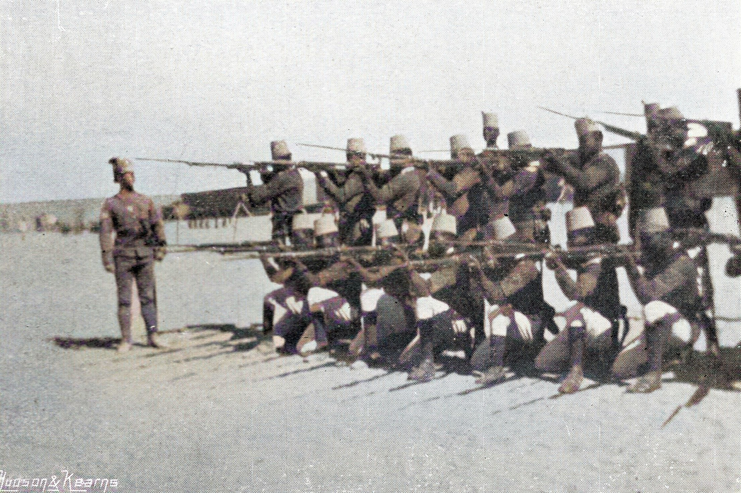 Sudanese recruits undergoing training with the Egyptian Army; they often proved formidable in battle