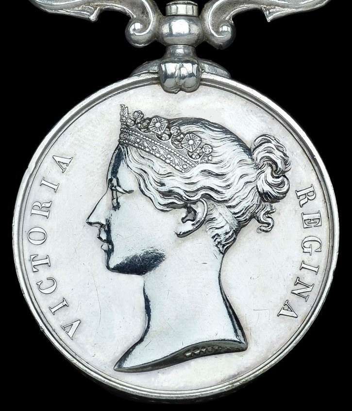 The standard obverse of the South Africa medals from 1853-79