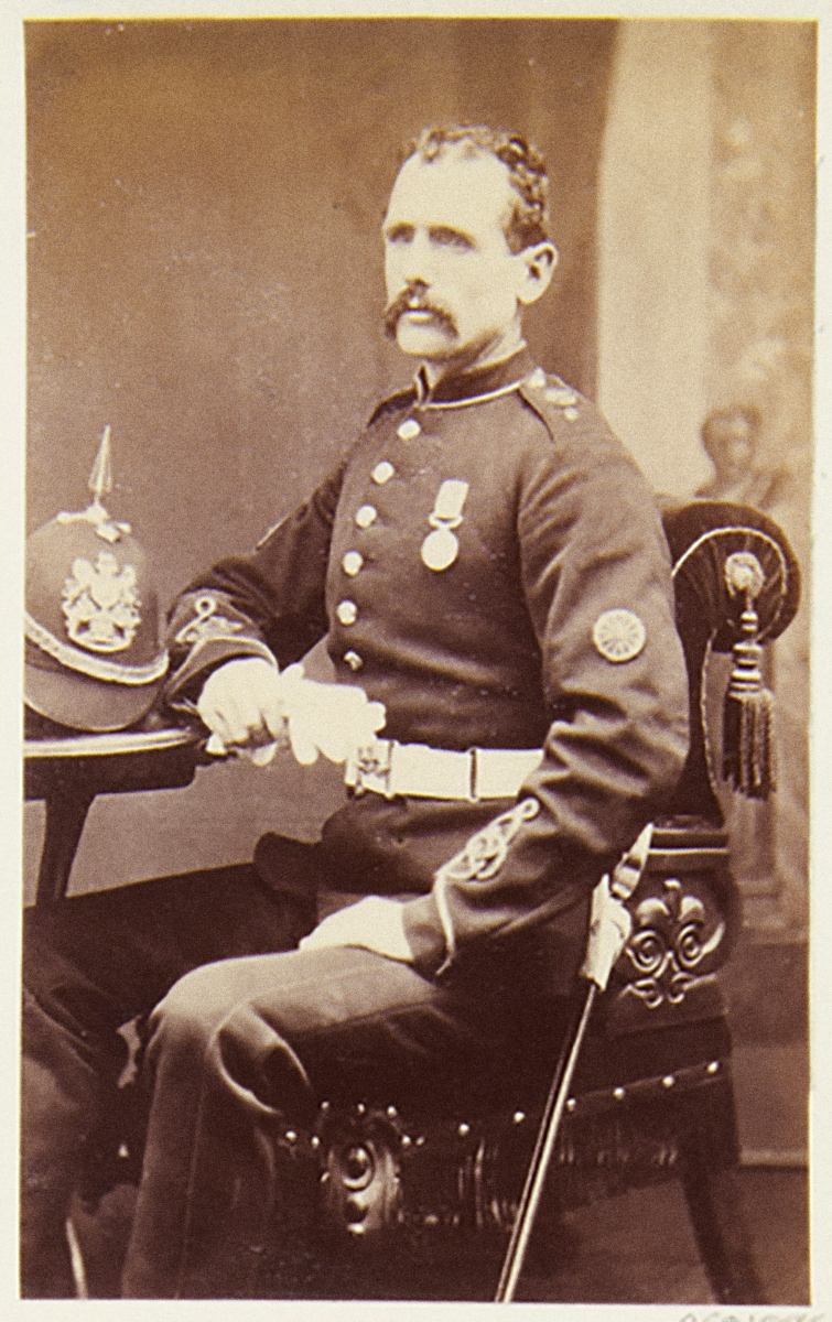 Gunner John Cantwell, wearing the DCM he received from the Queen at Windsor on 8th March 1880. Current whereabouts unknown