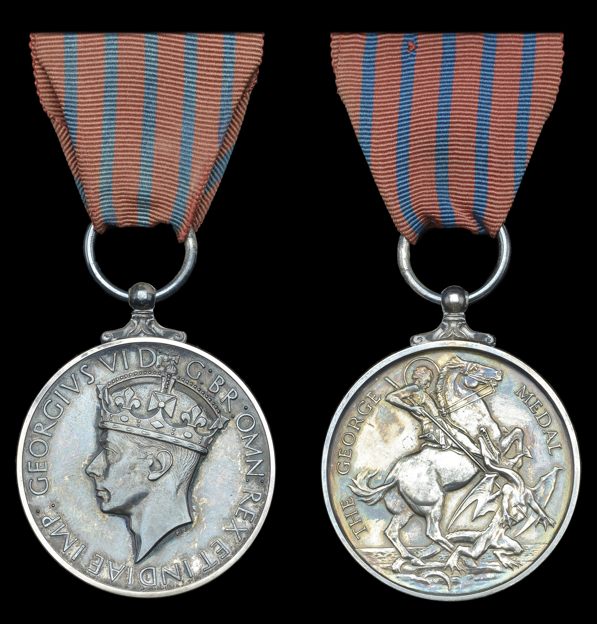 The George Medal, showing obverse and reverse