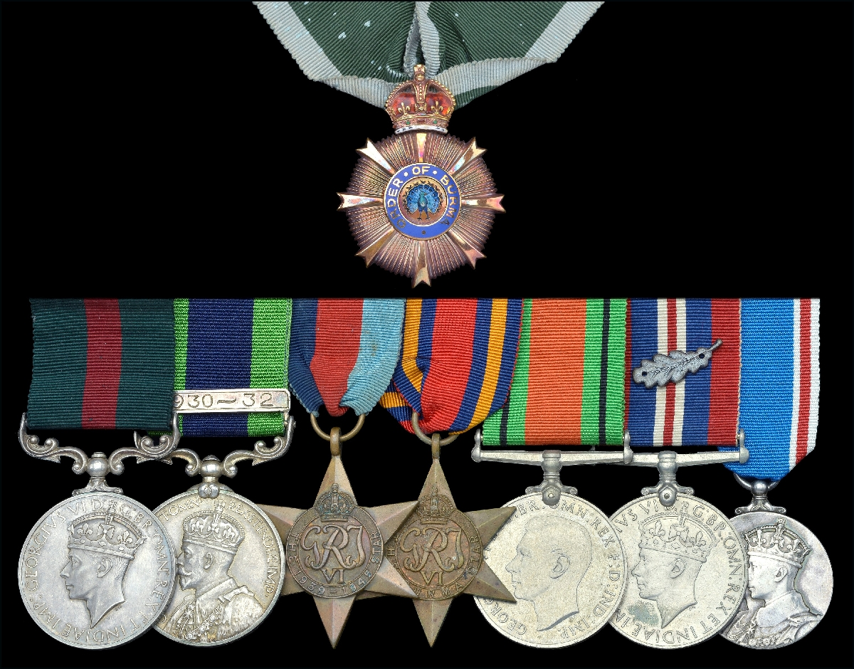 The unique group of Order of Burma and Burma Gallantry Medal to Hon. Lt. Maji Tu, Burma Rifles; mentioned in dispatches, London Gazette 28 October 1942  [DNW]
