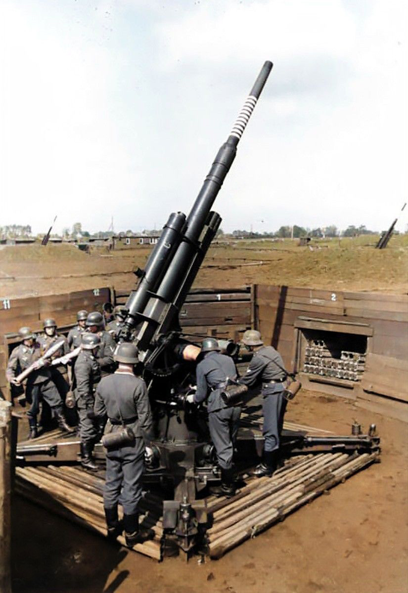 Perhaps the most feared of all anti-aircraft guns: the dreaded 8.8 cm Flak 36. More commonly referred to as the 88mm