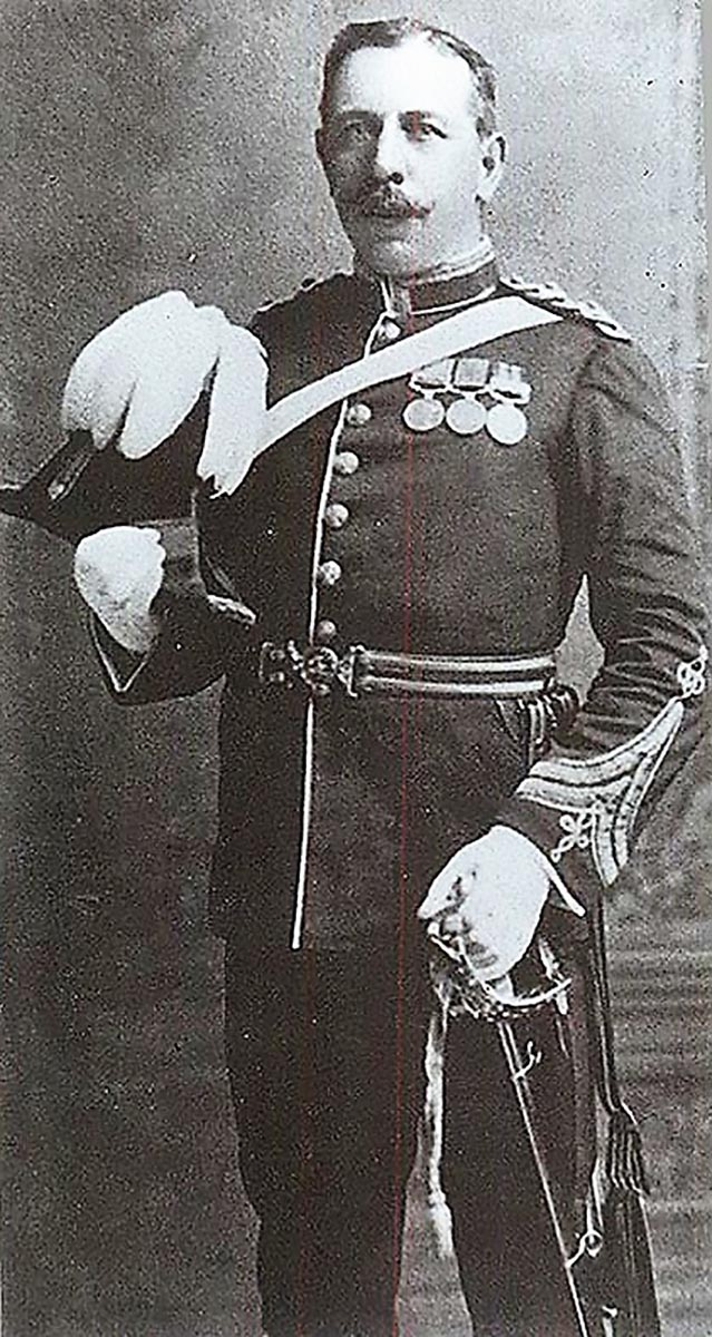 The well-known portrait of Frank Bourne. Taken in 1905, he wears his DCM, Zulu War medal and India General Service for service with the 24th in Burma