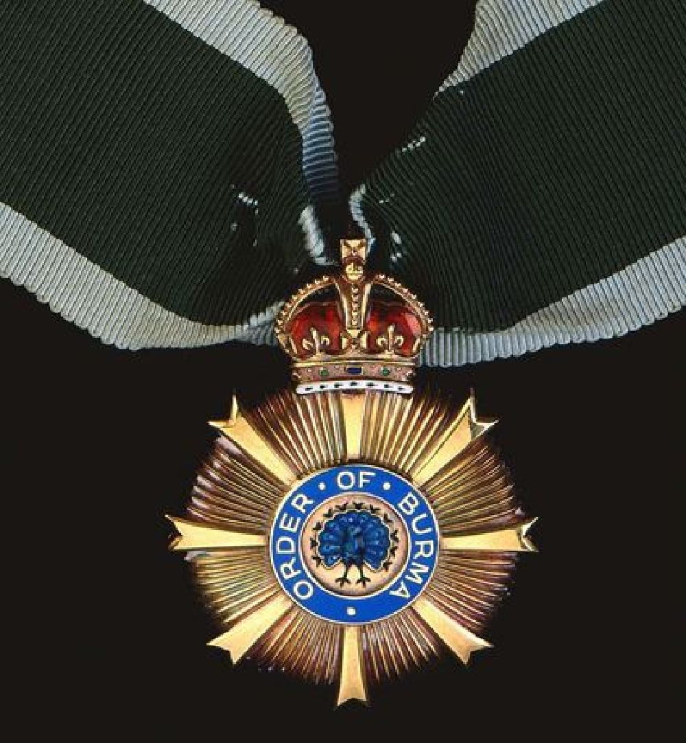 The attractive and very rare Order of Burma, a neck badge awarded to native officers of the Burma Army. The reverse is plain