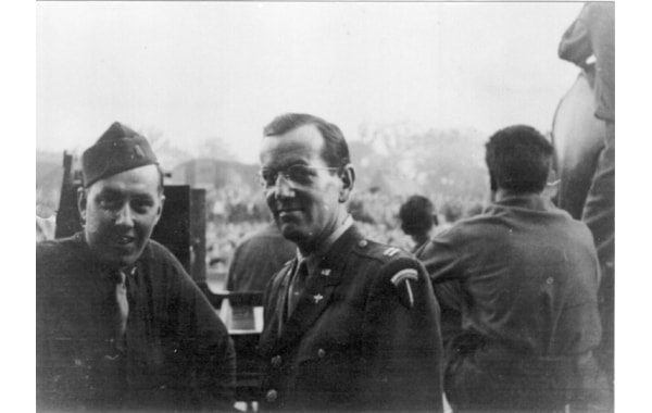 Capt Glenn Miller and band of the AEF in Park