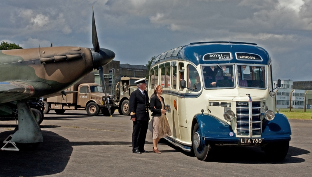 Spitfire and bus
