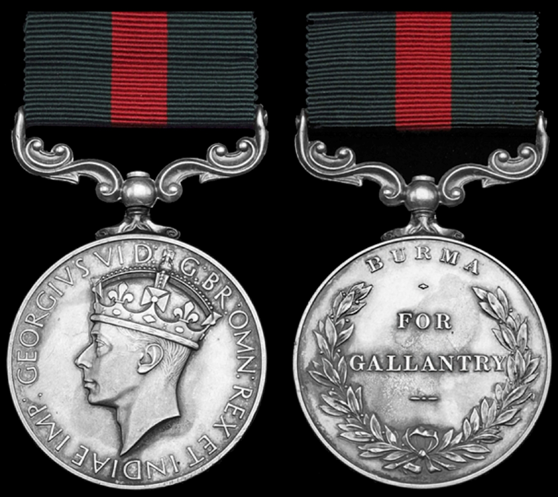 The short-lived Burma Gallantry Medal (1940-47) showing obverse and reverse
