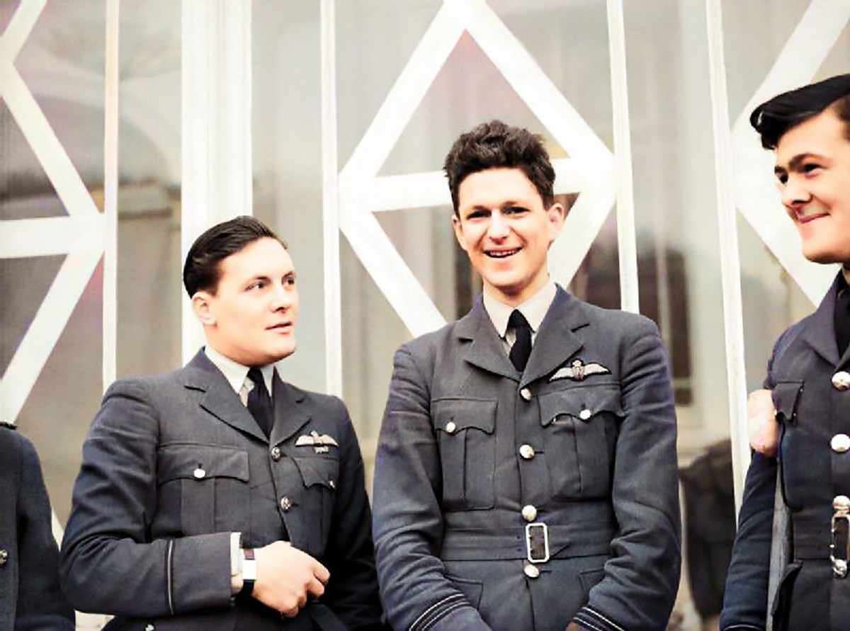 Flight Lt. EJB Nicolson in the centre was the only Battle of Britain Victoria Cross