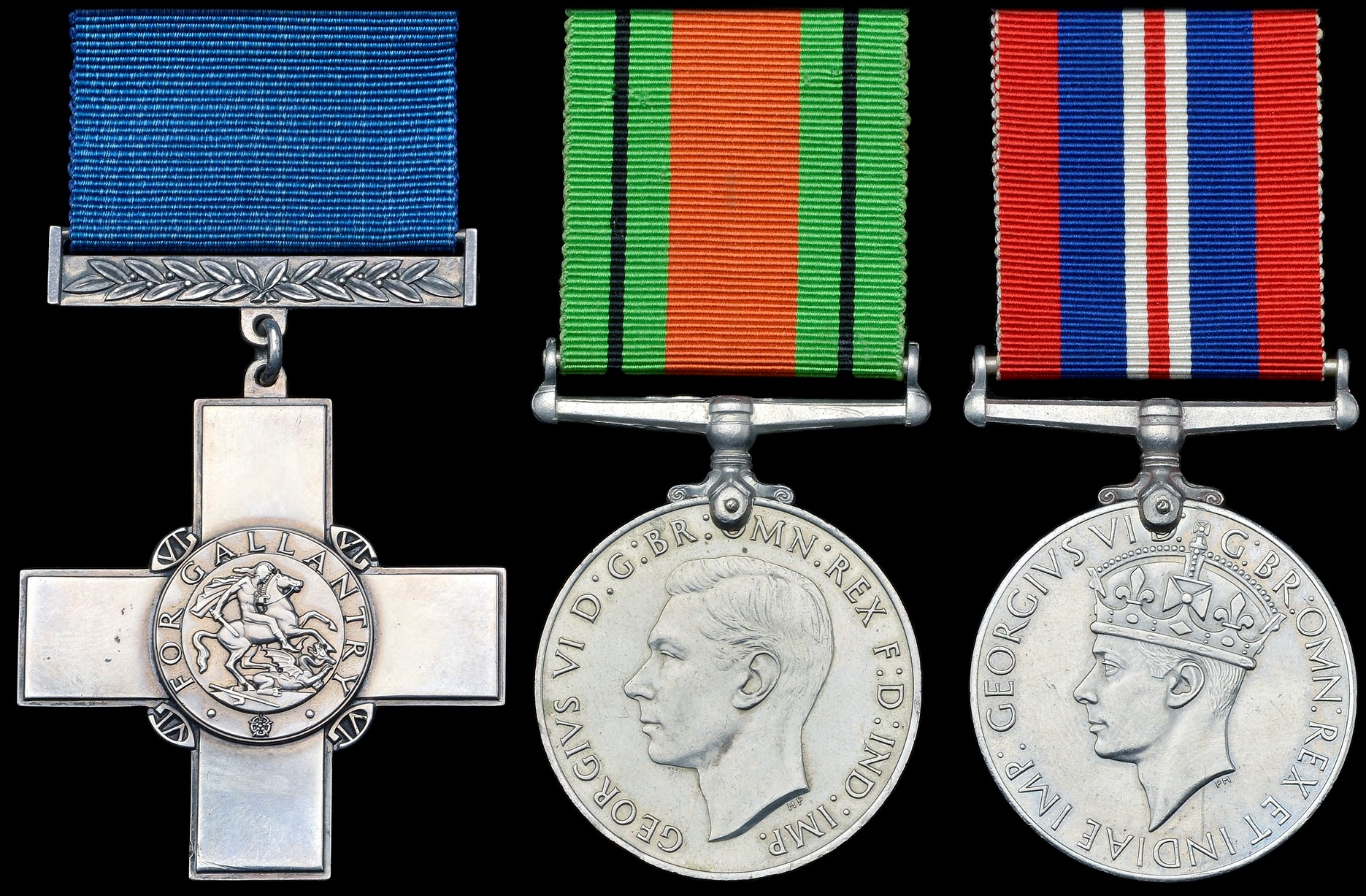 A George Cross group, with Defence Medal and War Medal