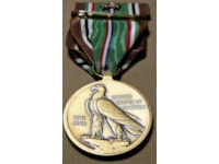 The reverse of European-African-Middle Eastern medal, standardised with that of the Asiatic-Pacific medal