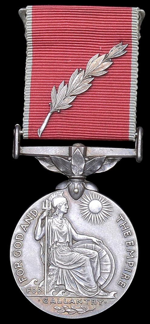 The Empire Gallantry Medal, with laurel spray.