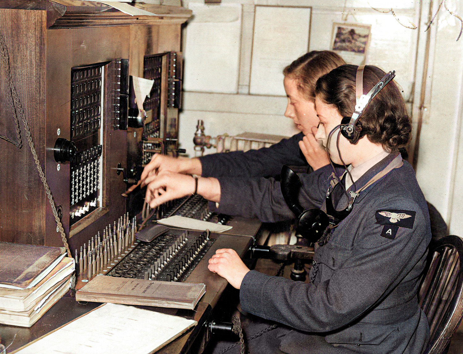 WAAF Telephonists were employed at all the main Group and Sector Stations, which ensured internal RAF communications worked smoothly throughout Fighter Command (MoD/AHB/RAF)