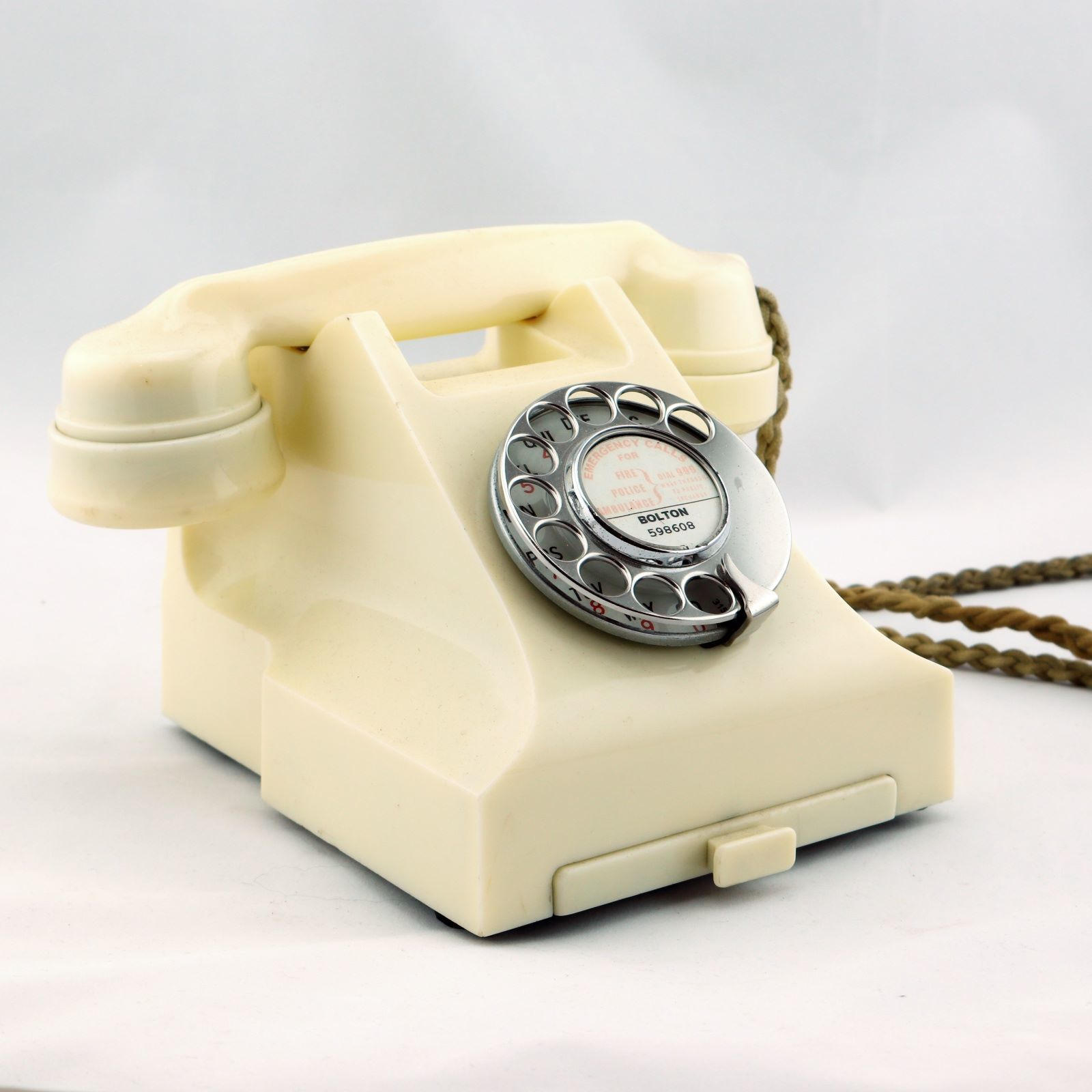Vintage telephones are for sale