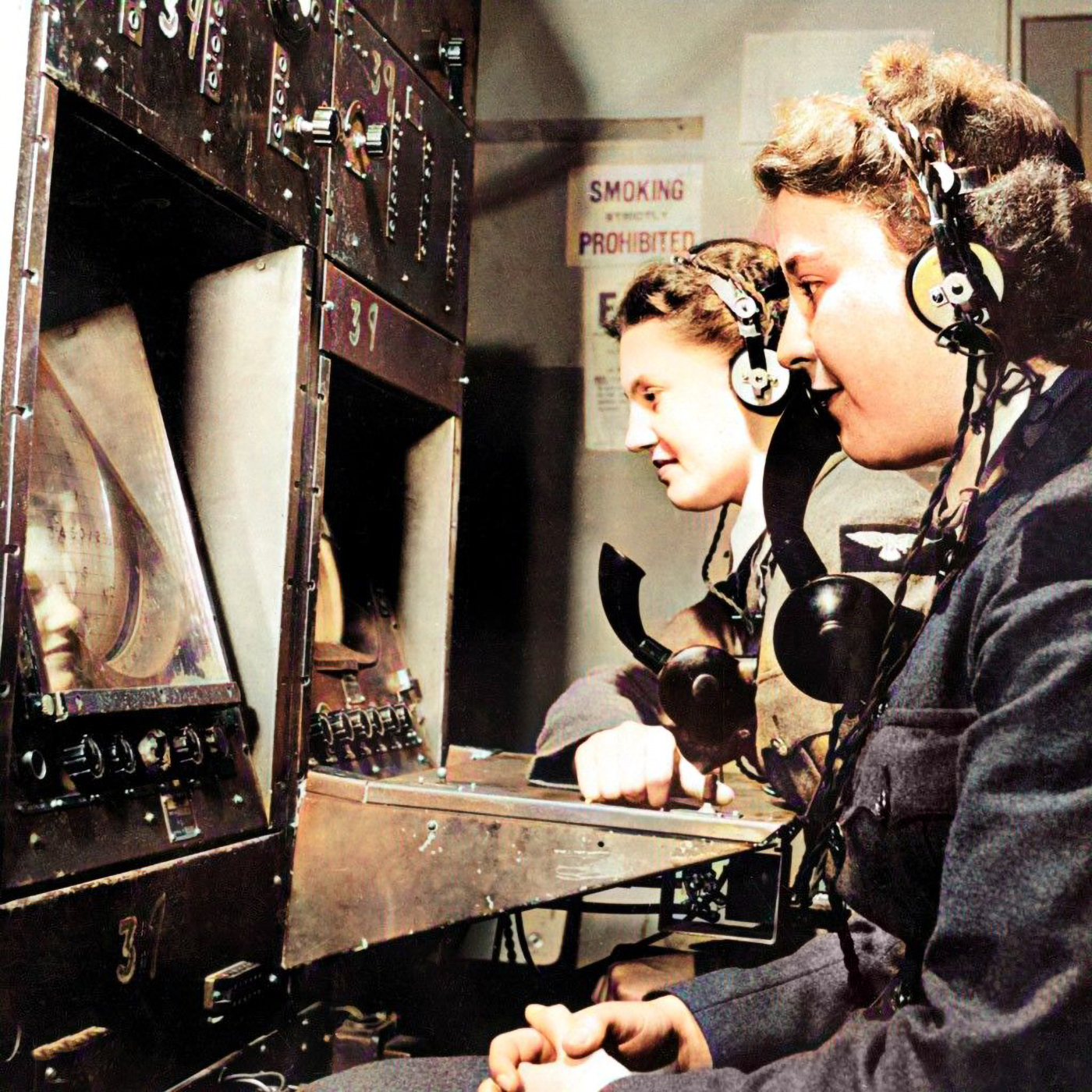 WAAF Radar Operators were based at the RDF Chain-Home stations around Britain's coast and communicated directly with both their respective regional Group Controller and HQ Fighter Command at Bentley Priory (MoD/AHB/RAF)