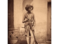 A Sikh Trooper of the 15th Punjab Infantry after the Sacking of Kaisarbagh Palace