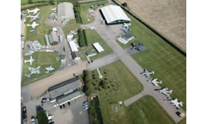 Aerial view of Newark Air Museum - Autumn 2020