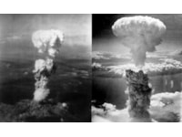 Atomic bombs over Hiroshima and Nagasaki forced Japan to surrender