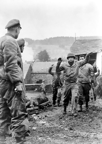 Advancing German troops captured Americans