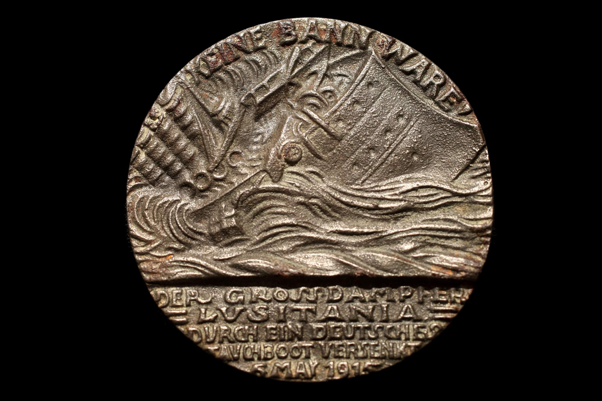 The obverse of the British medal