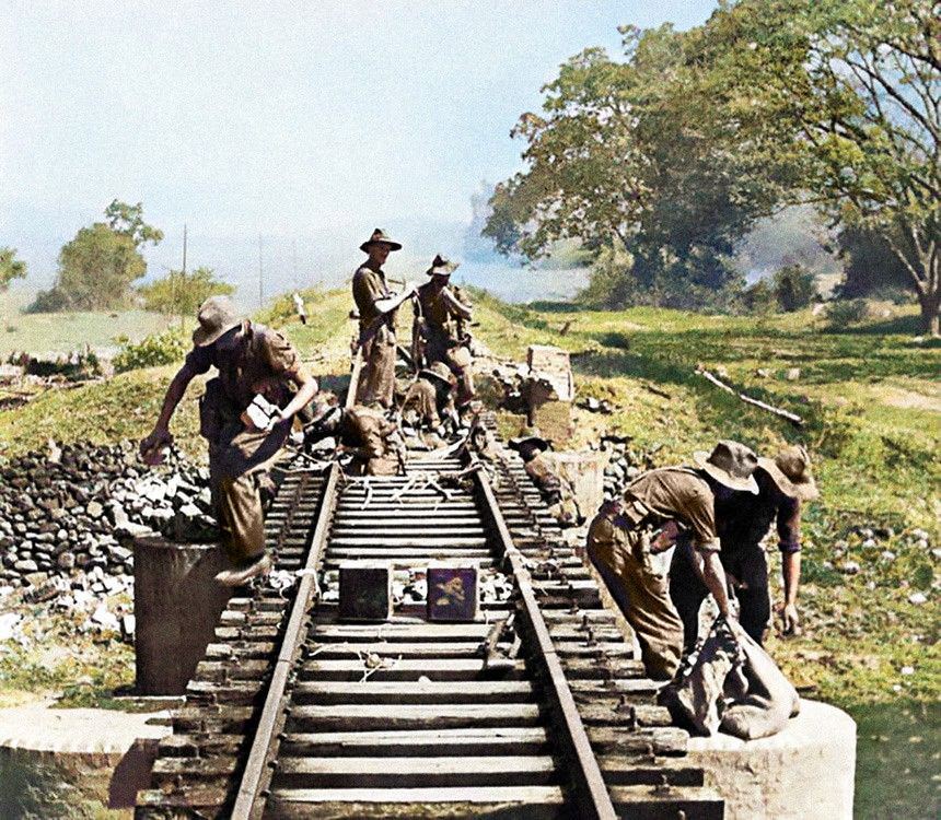 Chindit forces sabotaging the Burma railway