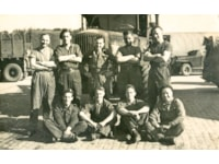 Captain Geoffrey Kemp Bond (back row, middle) with miltary colleagues