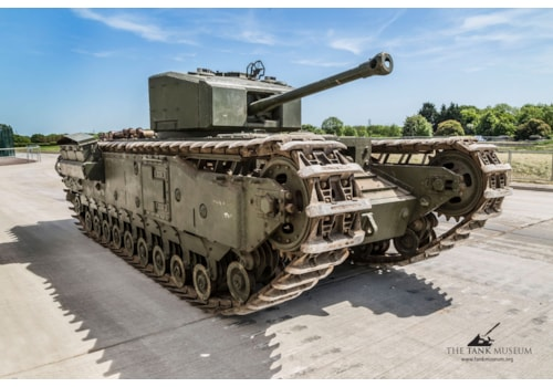 The Tank Museum's Churchill III blew its clutch