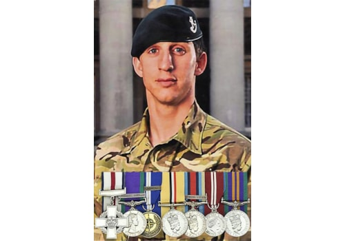 Colour Sgt Deacon Cutterham and the medals