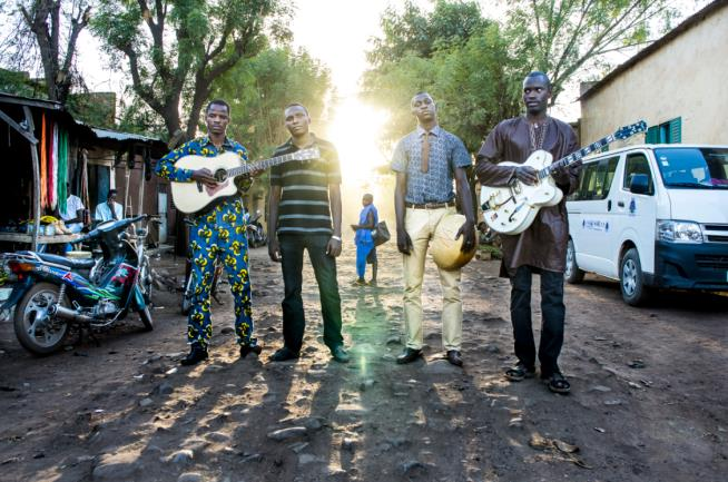 Desert blues music group Songhoy Blues will perform in Rebel Sounds Live