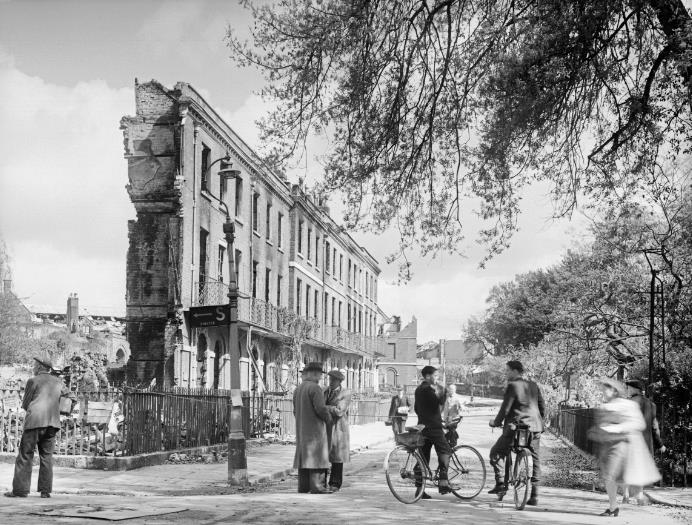 Photograph of Exeter after the 1942 Baedeker raids will feature in What Remains at IWM London (5 July 2019 – 5 January 2020).