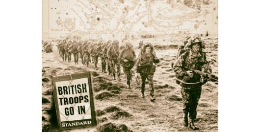 British troops go in to retake the Falkland Islands